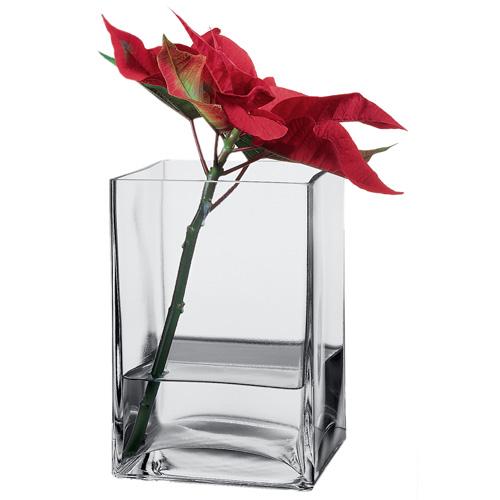 Ваза квадратная стеклянная Pasabahce Flora 125х180 80144.